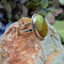 Load image into Gallery viewer, Copper Turquoise Ring | Sterling Silver 925 | SIZE 7.5 | Natural Copper Turquoise Gemstone Ring | Oval Ring | Gemstone Jewelry