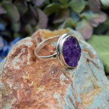 Load image into Gallery viewer, Amethyst Ring | Sterling Silver 925 | SIZE 8.5 | Raw Gemstone Ring