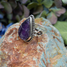 Load image into Gallery viewer, Amethyst Ring | Sterling Silver 925 | SIZE 8.5 | Raw Gemstone Ring | Gemstone Jewelry