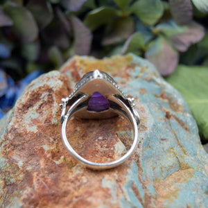 Amethyst Ring | Sterling Silver 925 | SIZE 8.5 | Raw Gemstone Ring | Gemstone Jewelry