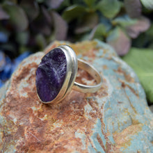 Load image into Gallery viewer, Amethyst Ring | Sterling Silver 925 | SIZE 8 | Natural Amethyst Gemstone Ring | Oval Ring | Gemstone Jewelry