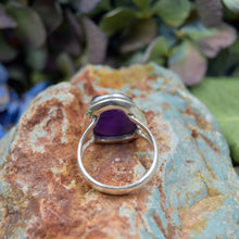 Load image into Gallery viewer, Amethyst Ring | Sterling Silver 925 | SIZE 6.5 | Natural Amethyst Gemstone Ring | Unique Ring | Gemstone Jewelry