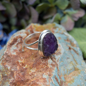 Amethyst Ring | Sterling Silver 925 | SIZE 6.5 | Natural Amethyst Gemstone Ring | Unique Ring | Gemstone Jewelry