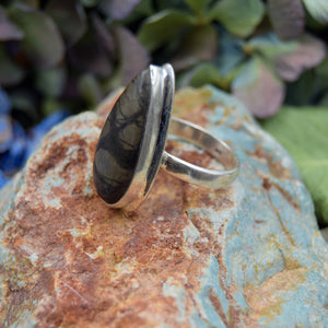 Picasso Jasper Ring | Sterling Silver 925 | SIZE 7.5 | Natural Gemstone Jewelry