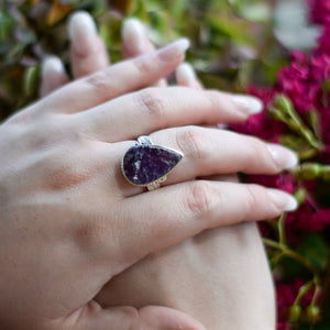 Amethyst Ring | Sterling Silver 925 | SIZE 9 | Natural Amethyst Gemstone Ring | Metaphysical Jewelry | Gemstone Jewelry