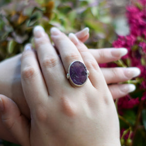 Amethyst Ring | Sterling Silver 925 | SIZE 6.5 | Natural Amethyst Gemstone Ring | Gift For Her | Gemstone Jewelry