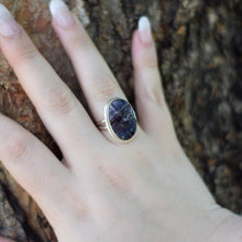 Load image into Gallery viewer, Amethyst Ring | Sterling Silver 925 | SIZE 7 | Natural Amethyst Gemstone Ring | Oval Ring | Gemstone Jewelry