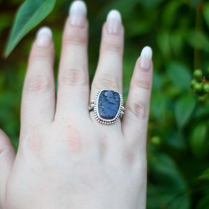 Amethyst Ring | Sterling Silver 925 | SIZE 6.5 | Natural Amethyst Gemstone Ring | Bohemian Jewelry | Gemstone Jewelry