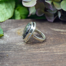 Load image into Gallery viewer, Turritella Ring | Sterling Silver 925 | SIZE 7 | Natural Gemstone Ring | Square Ring | Gemstone Jewelry