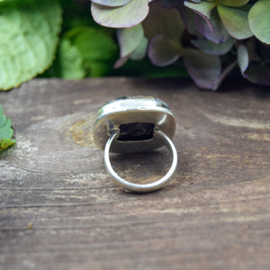 Turritella Ring | Sterling Silver 925 | SIZE 7 | Natural Gemstone Ring | Square Ring | Gemstone Jewelry