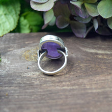 Load image into Gallery viewer, Amethyst Ring | Sterling Silver 925 | SIZE 6.5 | Natural Amethyst Gemstone Ring | Gift For Her | Gemstone Jewelry