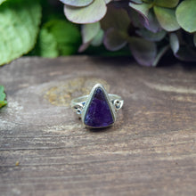 Load image into Gallery viewer, Amethyst Ring | Sterling Silver 925 | SIZE 7 | Natural Amethyst Gemstone Ring | Gift For Her | Gemstone Jewelry