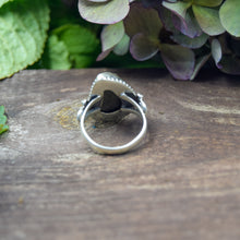 Load image into Gallery viewer, Pyrite Ring | Sterling Silver 925 | SIZE 8.5 | Natural Pyrite Gemstone Ring | Statement Ring | Gemstone Jewelry