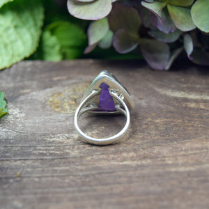 Amethyst Ring | Sterling Silver 925 | SIZE 7.5 | Natural Amethyst Gemstone Ring | Gift For Her | Gemstone Jewelry