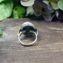 Load image into Gallery viewer, Copper Turquoise Ring | Sterling Silver 925 | SIZE 9 | Natural Copper Turquoise Gemstone Ring | Gift For Her | Gemstone Jewelry