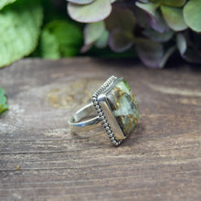 Load image into Gallery viewer, Copper Turquoise Ring | Sterling Silver 925 | SIZE 7 | Natural Copper Turquoise Gemstone Ring | Square Ring | Gemstone Jewelry