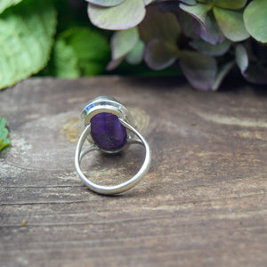 Amethyst Ring | Sterling Silver 925 | SIZE 8.5 | Natural Amethyst Gemstone Ring | Gift For Her | Gemstone Jewelry