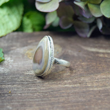 Load image into Gallery viewer, Imperial Jasper Ring | Sterling Silver 925 | SIZE 6 | Natural Imperial Jasper Gemstone Ring | Boho Ring | Gemstone Jewelry