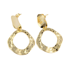 Load image into Gallery viewer, Gold Post Earrings | Dangle Earrings