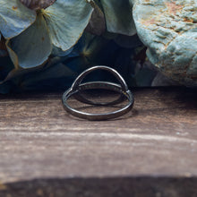 Load image into Gallery viewer, Turquoise Ring | Oxidized Sterling Silver 925 | SIZE 6.5 | Saturn Ring