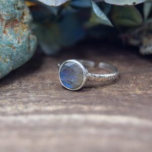Adjustable Rings | Sterling Silver AAA Gemstone Rings | Labradorite Moonstone Smoky Quartz Onyx
