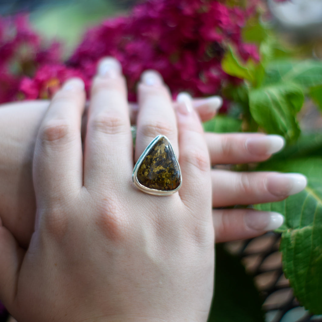 Bronzite Ring | Sterling Silver 925 | SIZE 7 | Natural Bronzite Gemstone Ring | Gift For Her | Gemstone Jewelry