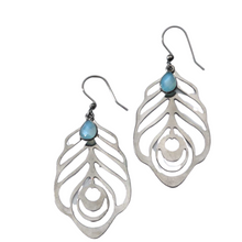 Load image into Gallery viewer, Light Laser Cut Earrings with Stones
