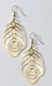 Light Laser Cut Earrings with Stones