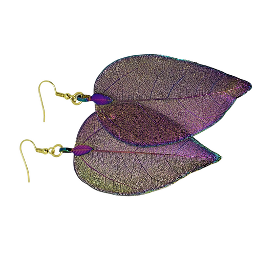 Genuine Leaf Earrings