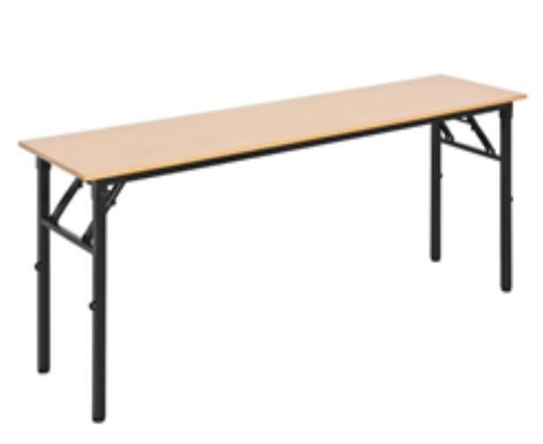 Fold Up Conference Table in Melamine Oak