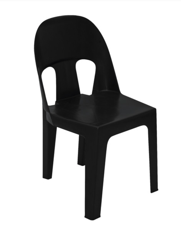 Africa Black Recycled Chair