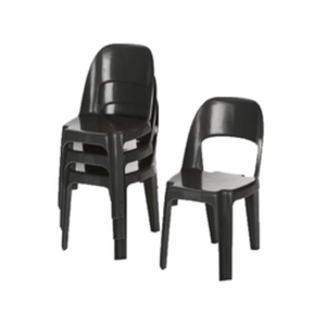Everest Black Plastic Recycled Chair