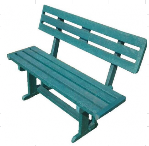 School Bench WITH BACK
