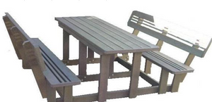 Budget Picnic Bench WITH BACK REST