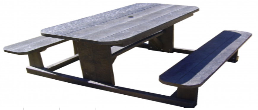 Sleeper Picnic Bench With No Back