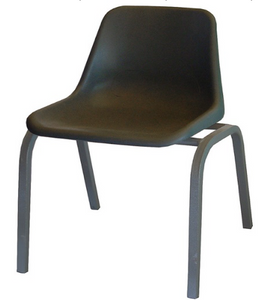Polyshell Chair - Recycled - Charcoal - Prices vary by Seat Height & size