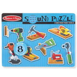 Construction Tools Sound Puzzle - 8 Pieces