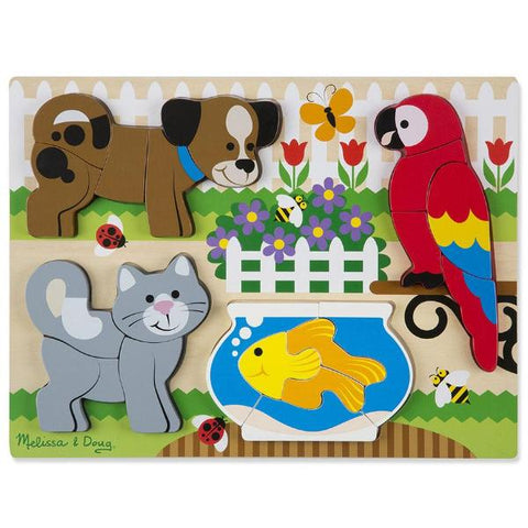 Pets Chunky Wooden Jigsaw Puzzle - 20 Pieces