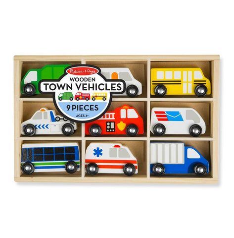 Town Vehicle Set - 9 Pieces