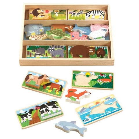 Animal Picture Boards - 16 Pieces