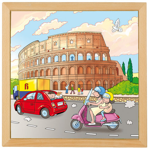 Colosseum Wooden Jigsaw Puzzle - 81 Pieces