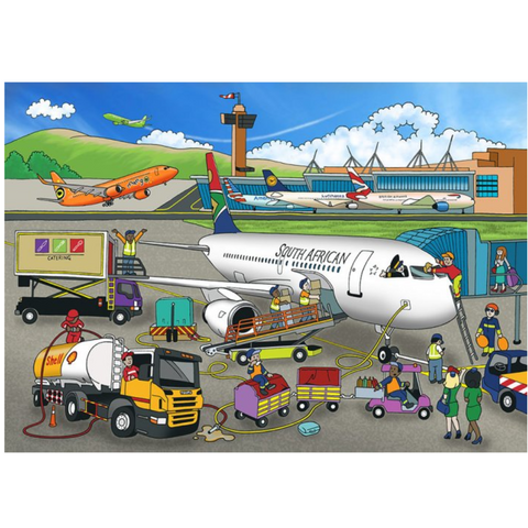 Airport Wooden Jigsaw Puzzle - 24 Pieces