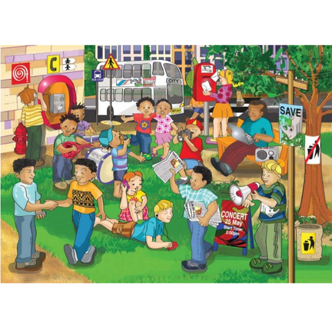 Communication Wooden Jigsaw Puzzle - 40 Pieces