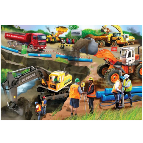 Construction Wooden Jigsaw Puzzle - 50 Pieces
