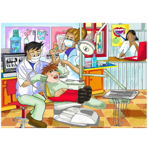 Dentist Wooden Jigsaw Puzzle - 24 Pieces