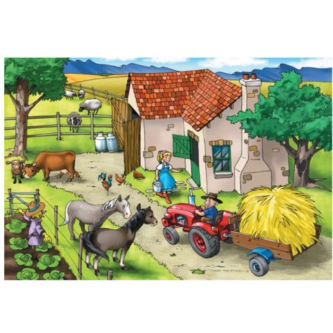 Farm Wooden Jigsaw Puzzle - 36 Pieces