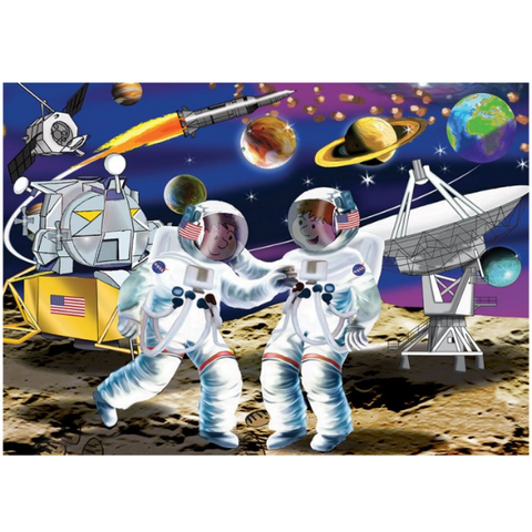Moon Landing Wooden Jigsaw Puzzle - 24 Pieces