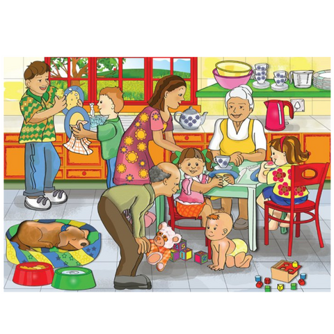 My Family Wooden Jigsaw Puzzle - 24 Pieces