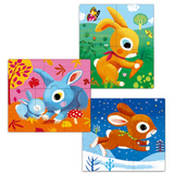 Rabbits Jigsaw Puzzles - 3, 4 & 5 Pieces