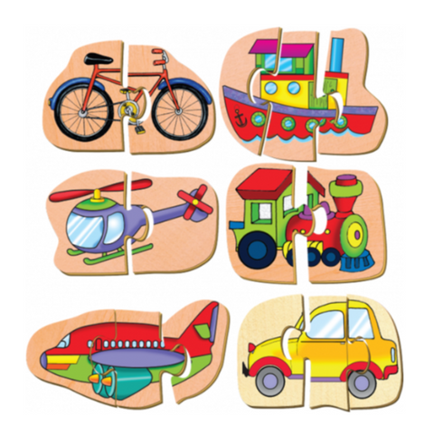 Smart Starters - Little Movers Puzzles - 6 x 2-3 Pieces